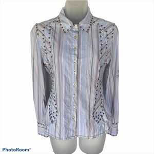 Johnny Was 3J Workshop Studded Button-Down S